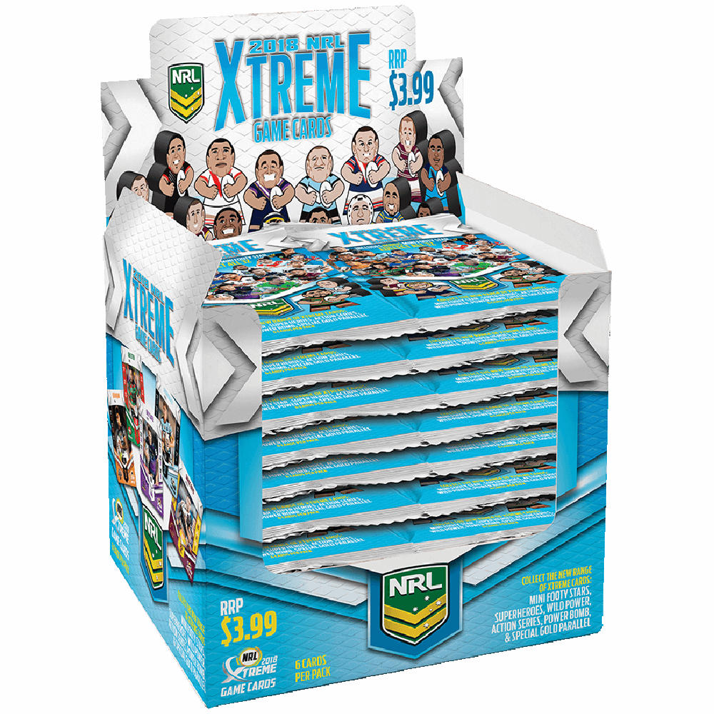 2018 NRL Xtreme – Box (24 Packets) – Card Central
